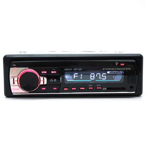 JSD-520 12V Car Radio Bluetooth Remote Control MP3 Audio Player Support FM Aux Input Receiver SD USB MP3 CAU_01I