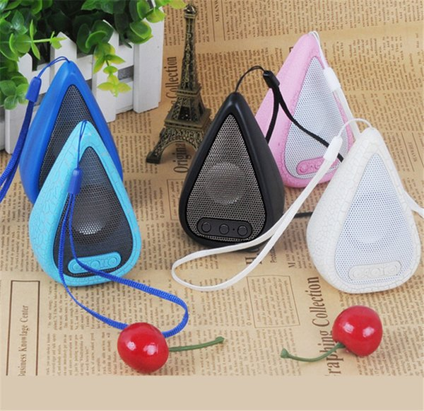 Hot sale Mini portable water droplets crackle texture Bluetooth Speaker with LED , mobile phone player with retail box