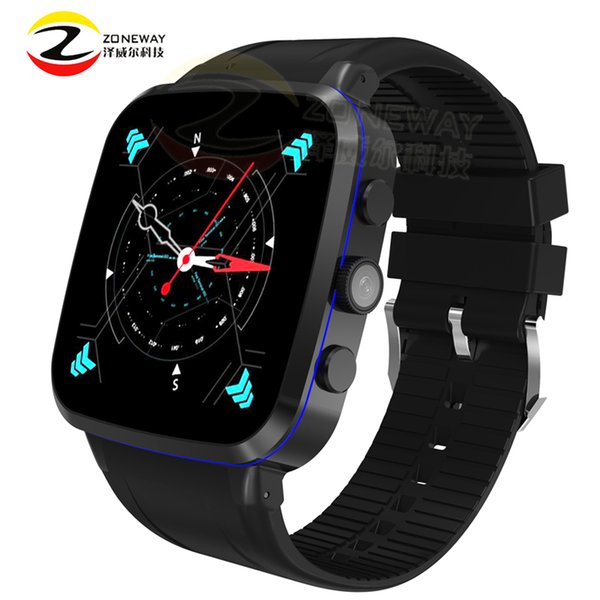 Wholesale- 2017 new X4 1.54 inch Quad-core smart watch wireless charge 3G MTK6580 Android 512M +8G GPS wifi vs X01 plus DM98 pk KW88 DM368