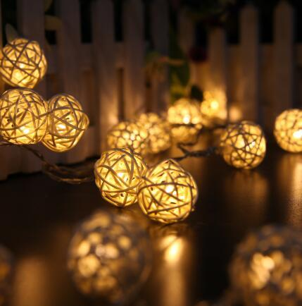 Fashion 20 LED Festoon Party Ball string lamp led Christmas Lights fairy wedding garden pendant garland outdoor decoration light 2017