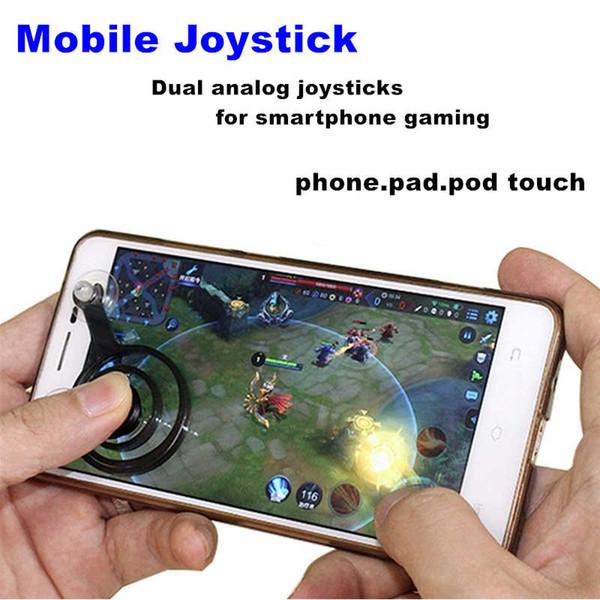 2pcs / lot mini-joysticks mobile écran tactile joystick pour tablette smartphone jeux d'arcade pad de téléphone portable