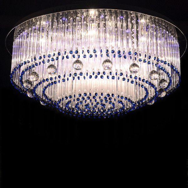 Сапфир LED Кристалл лампы круглые стеклянные кристаллы barswarovski потолочное освещение E14 110 в 220 В гостиная спальня кабинет лампы