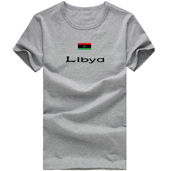 Libya T shirt Long jump sport short sleeve All season tees Nation flag clothing Unisex cotton Tshirt