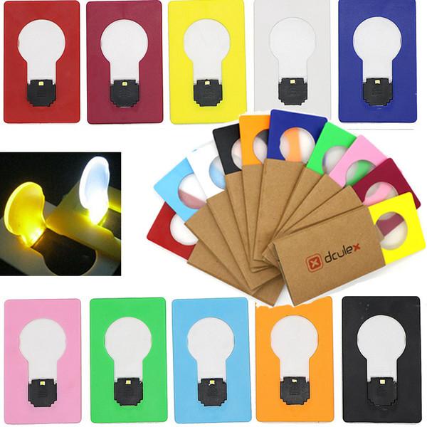 top popular Portable LED Card Pocket Light Bulb Lamp Wallet Size New Design Night Light Children's Led Night Light Mini Night Lights 2019