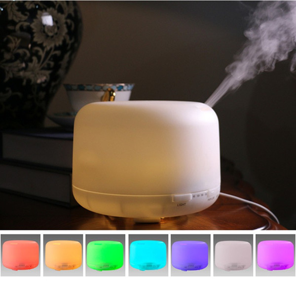 300ml Ultrasonic Air Humidifier Essential Oil Diffuser Aroma Lamp Aromatherapy Electric Aroma Diffuser 500ml Mist Maker for Office Bedroom