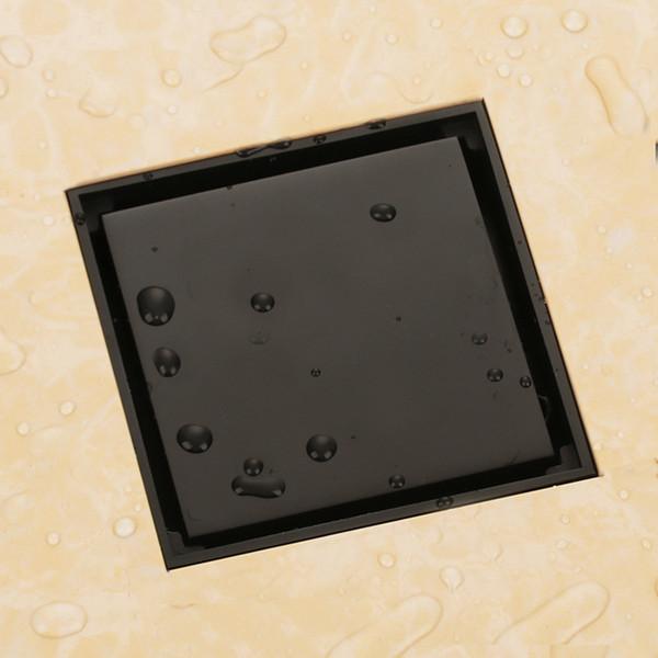 best selling copper matte black color solid brass 100 x 100mm square anti-odor floor drain bathroom invisible bathroom bath floor shower drain DR265