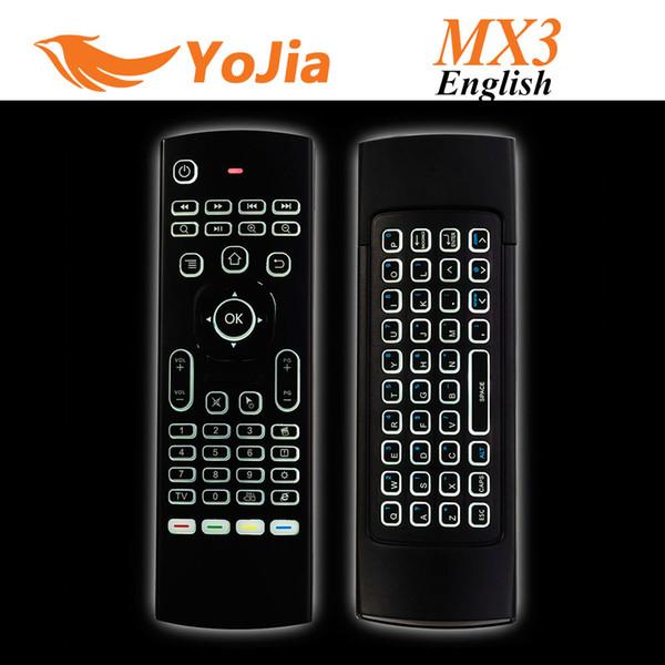 Tastiera 10pcs X8 Air mouse della mosca MX3 2.4GHz Wireless Remote Control somatosensoriali IR Learning 6 Asse senza Mic per Android TV Box