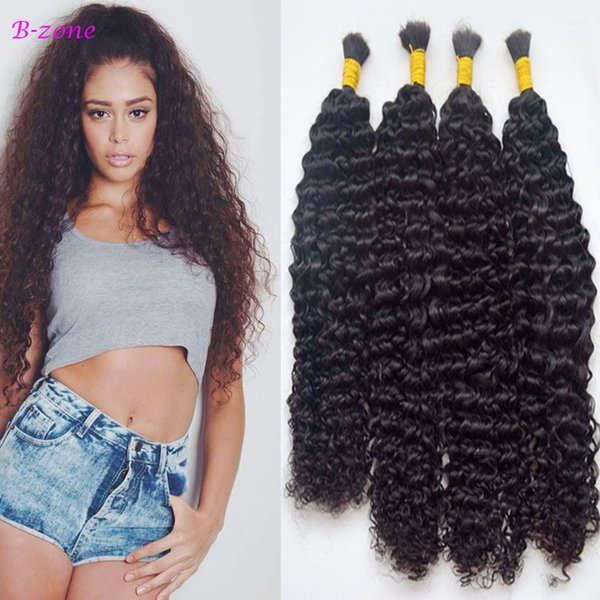 100g Deep Kinky Curly Human Braiding Hair