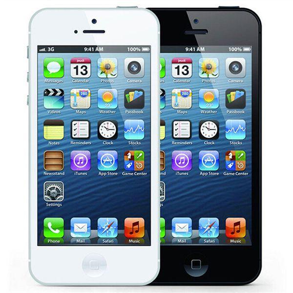 Refurbished Original Apple iPhone 5 16GB/32GB/64GB 4.0 inch Dual Core 1G RAM IOS8 3G 8MP 1080P Unlocked Mobile Smart Phone Free DHL 5pcs