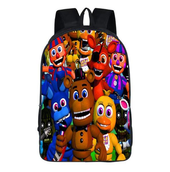 best selling FIVE NIGHTS AT FREDDY'S SCHOOL BAGS Freddy FNAF BAG five nights at freddy backpack shoulder bags bookbag