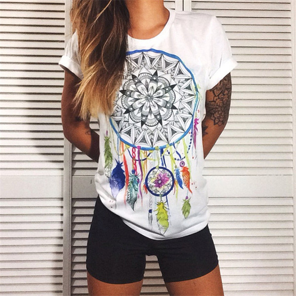 Wholesale- CDJLFH European t shirt for women Summer 2017 Vibe With Me Print Punk Rock Fashion Graphic Tees Women Designer Clothing