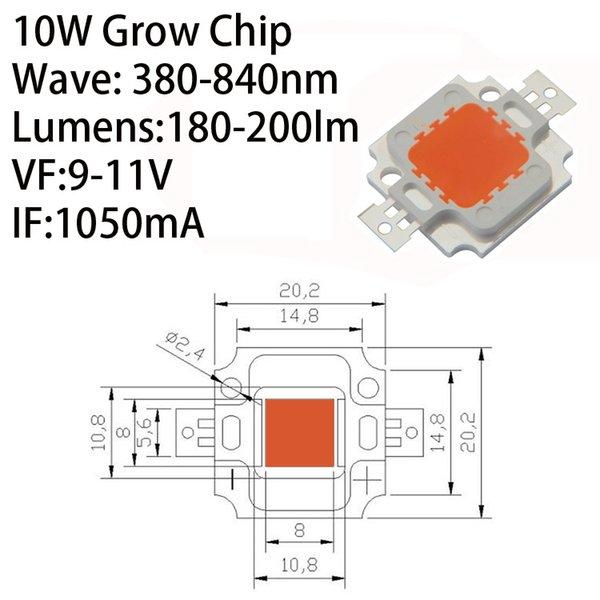 رقاقة LED 10W