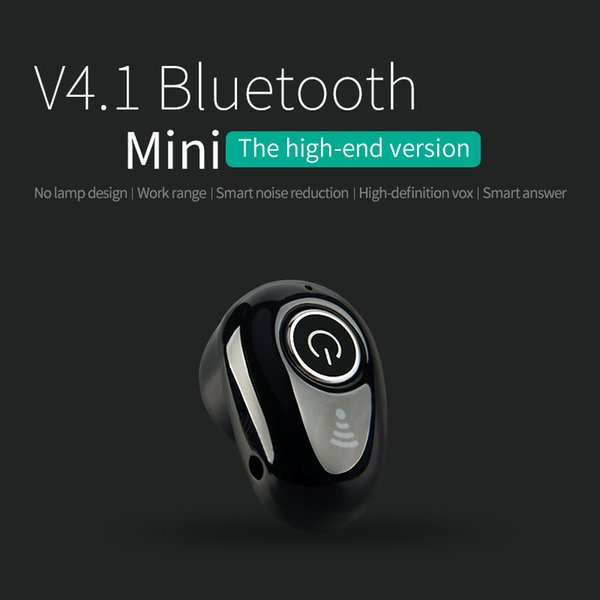 Bluetooth 4.1 Mini S650 Wireless Stereo Headset Smart Noise Reduction HD Light Wear Headset Earphone for iPhone Samsung Smart Phones
