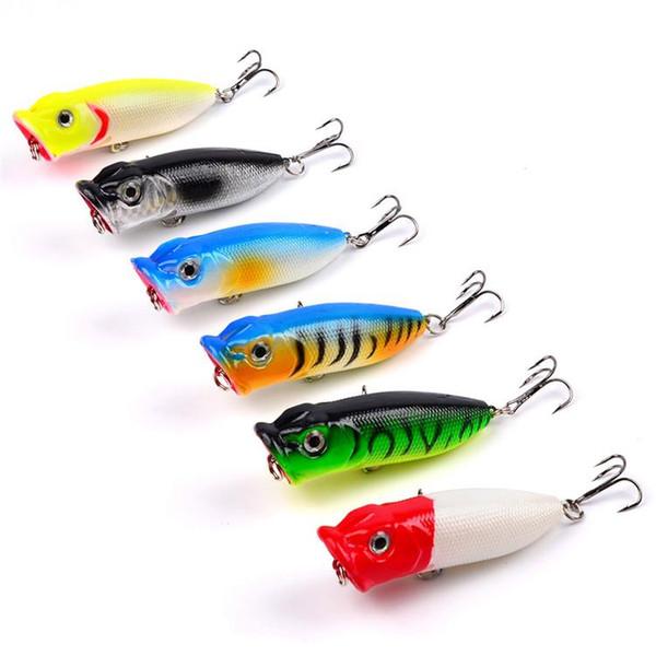 New lifelike Fish pattern ABS Plastic Artificial Popper lure 7cm 11.36g Top water Freshwater Poper Fishing Bait