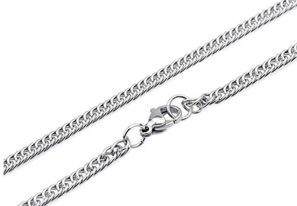 "Width 2.0mm/2.5mm/3.0mm 316L Stainless Steel Double Curb Linked Chain Necklace (18""-24"" inches)"