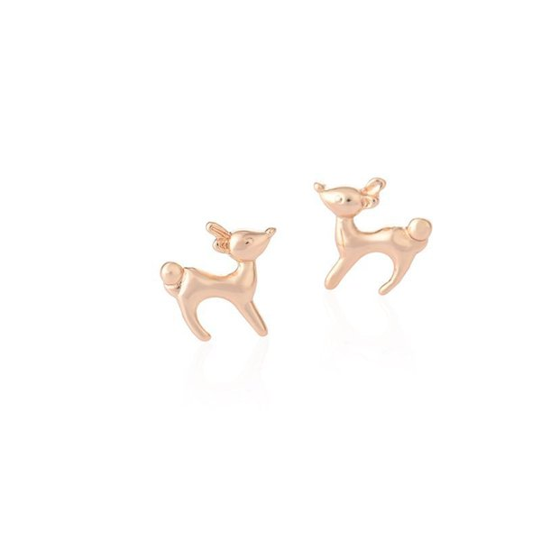 New Cute Fashion Earring Small Animal Deer Stud Earrings Girls Women Gifts Jewelry Gold Rose Gold Silver Color jl-281