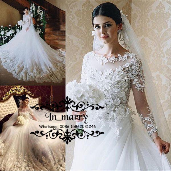 Discount Victorian Islamic 3d Floral Wedding Dresses 2016 A Line ...