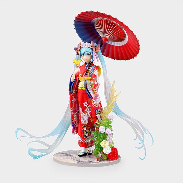 Hatsune Miku Kimono ver. Yukata Hanairogoromo 1/8 Scale painted Figure Collectible Model Toy KT3102