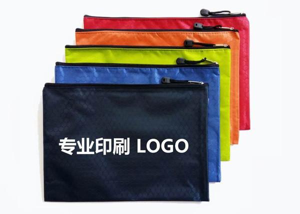 Busta di dati di linee di calcio A4 più creativa per ricevere la borsa con cerniera in tessuto Oxford 34 * 24 cm