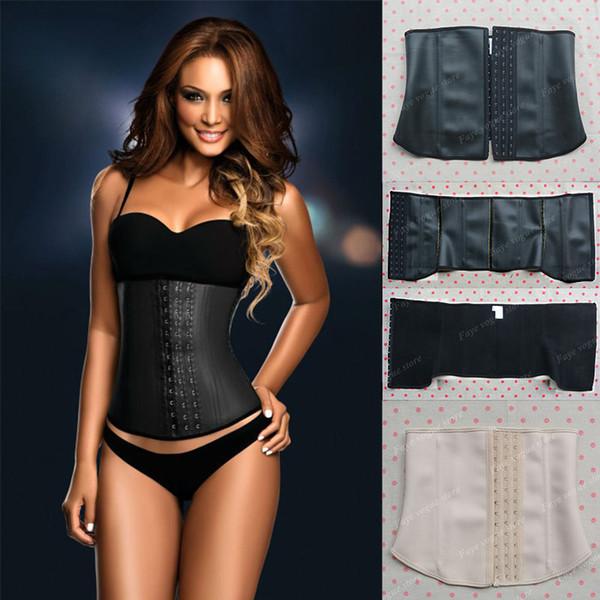 Vente en gros- Latex serre-taille en latex taille corset corset corset acier corset corset amincissante ceinture gaine amincissante