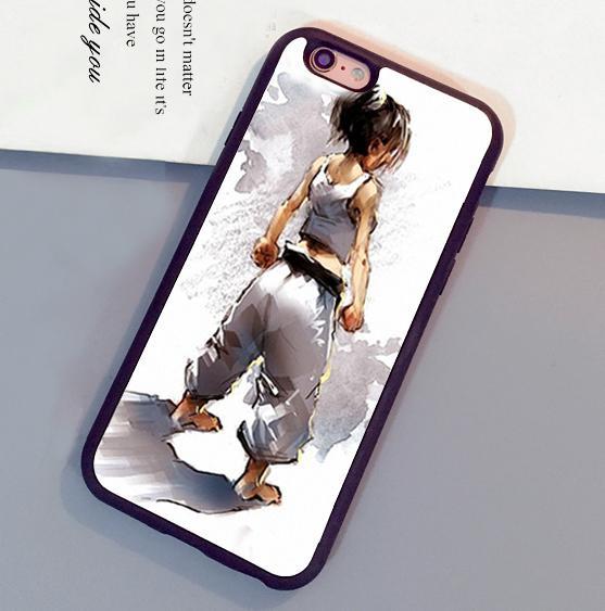Cas de téléphone de peau de caoutchouc souple imprimé par Karaté d'Oyama Kyokushin pour iPhone 6 6S Plus 7 7 Plus 5 5S 5C SE 4S Couverture arrière