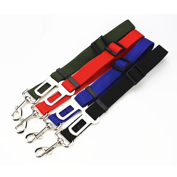 top popular 4 Colors Adjustable Car Dog Safety Belt Nylon Pets Puppy Seat Lead Leash Harness Vehicle Seatbelt 2020
