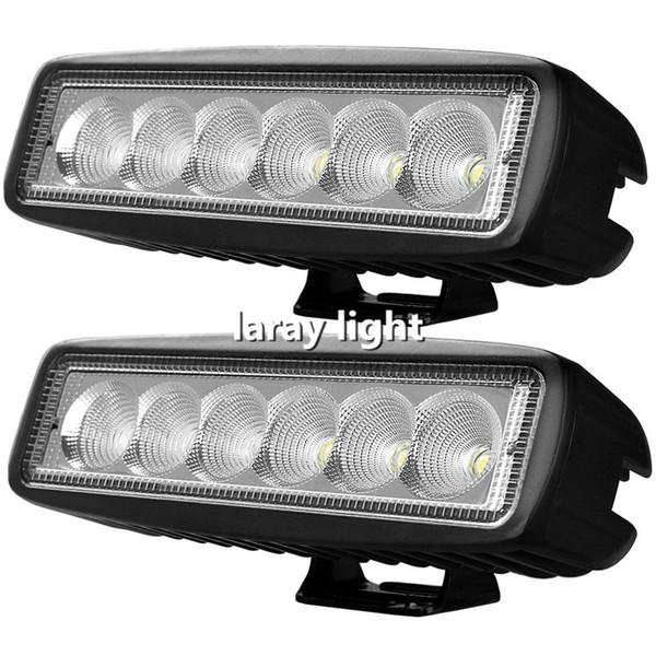 18W Flood Beam LED Work Light ATV Off Road Light Lamp Fog Driving Light Bar For 4x4 Offroad SUV Car Truck Trailer Tractor UTV Vehicle