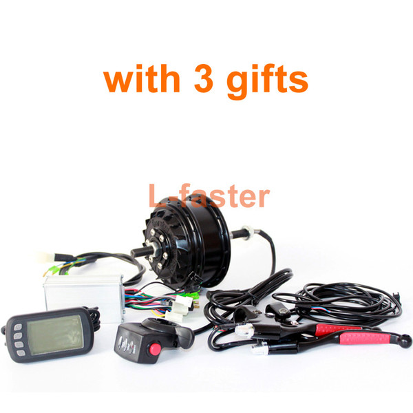 36V/48V 300W E-bicycle Rear Wheel Hub Motor Kit Can Use 9 Speed Gears Thread-on Freewheel 32 Spoke Holes LCD Display For Option