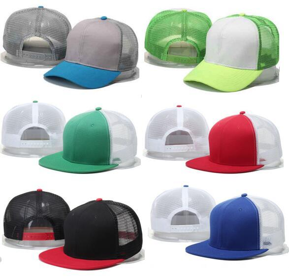 2017 New Blank Camouflage Mesh Baseball Cap Bone Snapback Hats for Men Women outdoor Hip Hop gorras sun cap Casquette trucker dad Hat