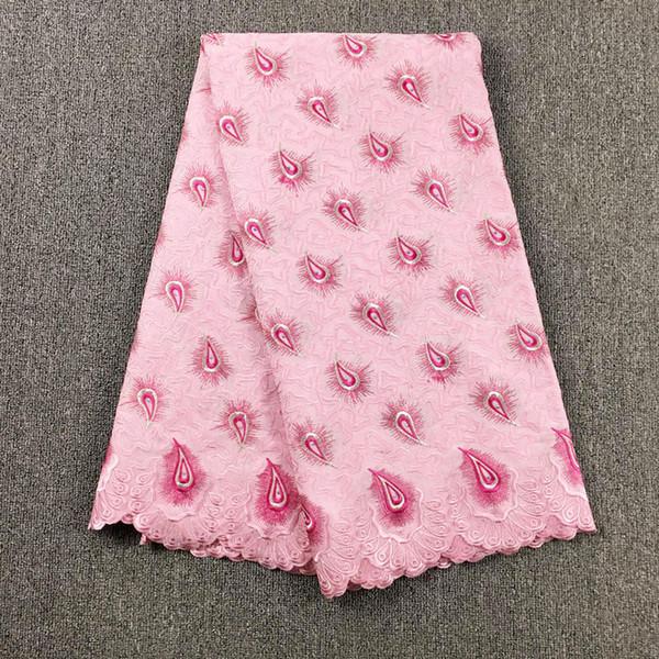 Cordón de voile suizo africano de alta calidad 067, envío gratis (5 yardas / paquete), ropa de encaje de voile de boda africano 100% algodón
