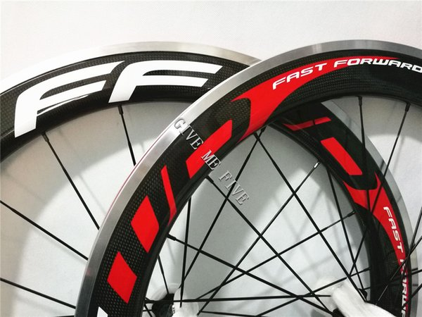 Hot 700C oem Fast Forward 60mm F6R carbon alloy wheels clincher 38mm 50mm 90mm with aluminum brake suface Novatec/powerway hub