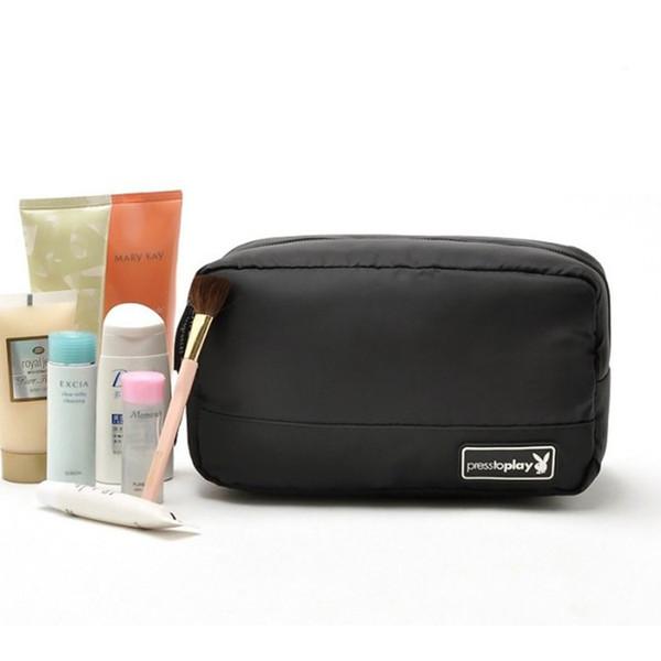 10 unids versión coreana mujeres bolsa de cosméticos con lavado neto bolsas de baño organizador de almacenamiento de maquillaje regalo de bolsillo para mujeres niñas precio barato