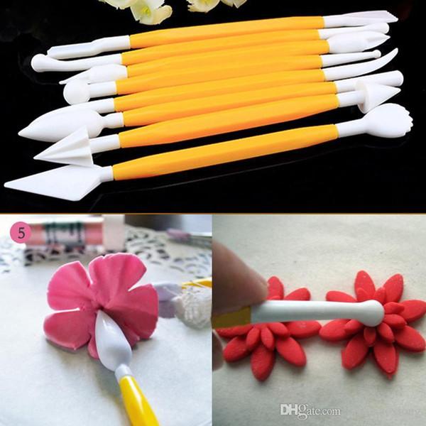 8pcs Fondant Cake Decorating Sugarcraft Paste Flower Modelling Tools Set Kit MD853