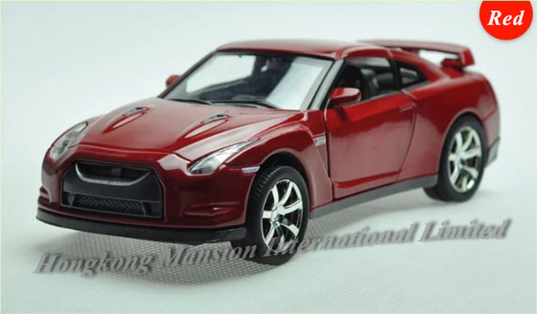 1:32 Scale Alloy Metal Diecast Sports Car Model For Nissan GT-R Collection Model Pull Back Toys Car With Sound&Light
