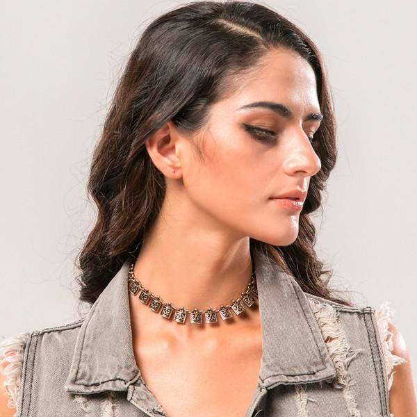 Collana di choker stile retrò Bomemia originali gioielli insoliti creativi per donne ragazze regali fatti a mano in lega choker