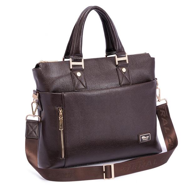 17 Laptop Bag Man High Quality Pu Lerthea Man Messenger Shoulder ...