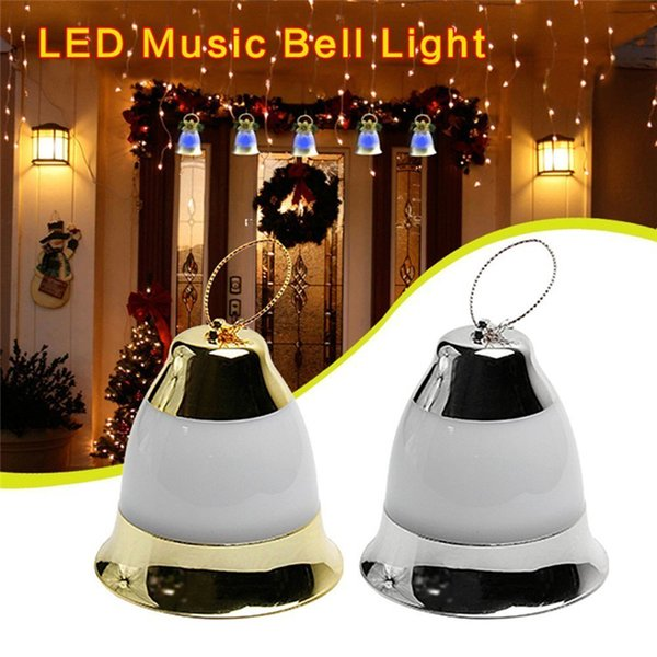 LED Christmas Decoration Music Jingle Bell Lights Fairy Lights Powered by Battery With Merry Christmas Music for Indoor Outdoor Garden Home