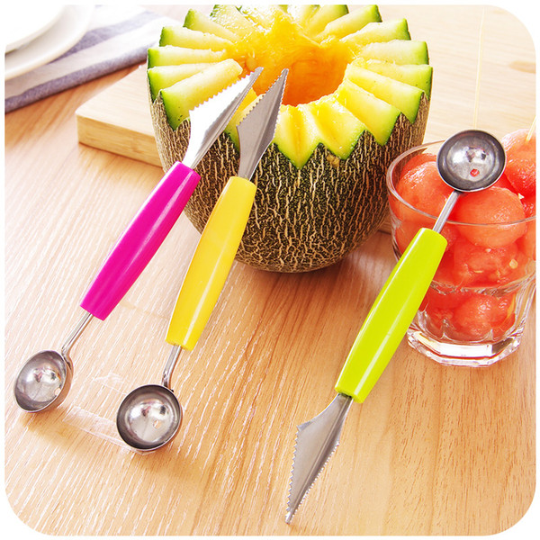 Creative Ice Cream Dig Ball Scoop Spoon Baller DIY Assorted Cold Dishes Tool Watermelon Melon Fruit Carving Knife Cutter Gadgets