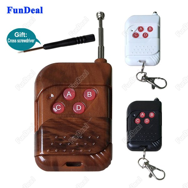 Wholesale- Universal 4 Channels Cloning 433mhz RF Wireless Remote Control Duplicator Copy code 433 Mhz Transmitter for Electric Garage Door
