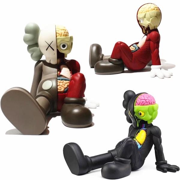 28 cm Kaws Companion kaws original falso negro rojo y gris medicom toy factory prodct 100% imagen real