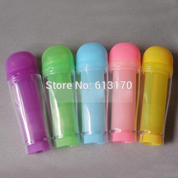 Nouvelle Arrivée 5g Baume à lèvres Tubes 5 ml Vide bâton à lèvres tube Coloré DIY Rouge à lèvres Emballage conteneur Rose, Bleu, Vert, Jaune, Violet