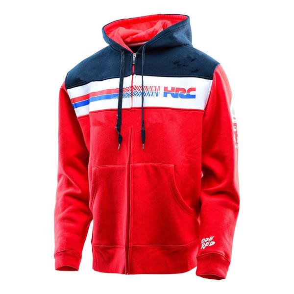 best selling 2018 Honda Moto Hoodie Racing Hoodies Motorcycle Motorbike Motocross Sports Winter Sweatshirt 100% Cotton Racing Jackets With Zipper