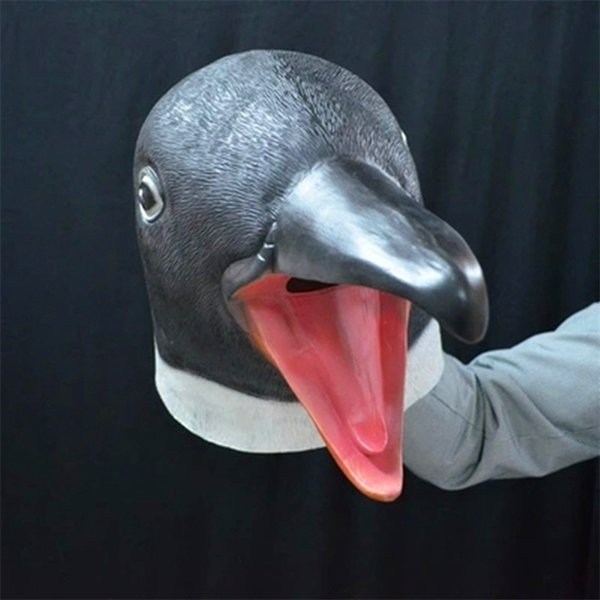 Wholesale 2017 Animal Mask Halloween Party Funny Mask Headgear Cosplay Horse Head Sheep Monkey Dog Head Gorilla Penguin Natural Latex Mask