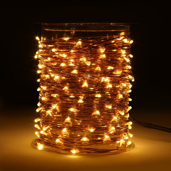 33 ft 100 LED String Lights With Remote Control Waterproof Outdoor Decorative Lights 110V, Spool Package Design
