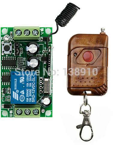 Teleswitch DC12V 1CH 10A Interrupteur Télécommande Relais Sortie Radio Récepteur Module