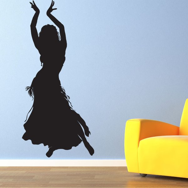 BELLY DANCER - Vinyl Wall Art Decal Dance Studio Wedding Gift DIY Home Decoration Stickers Vinyl Wall Art Mural