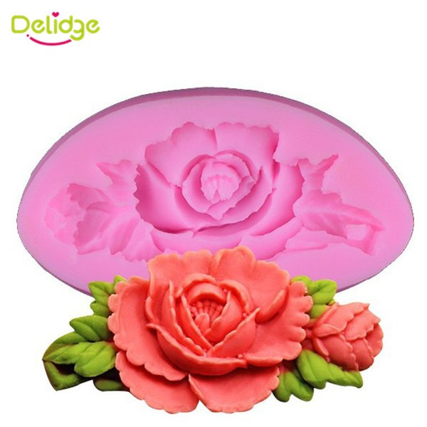 1 Pc Rose Flower Silicone Cake Mold 3D Sugarcraft Fondant Candy Chocolate Soap Mold Wedding Cake Decorating Tools