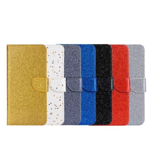 New style Luxury glitter PU Leather Wallet Case for iPhone 6S 7 Plus VFor huawei Mate 9 vivoX7 X7 plus Flip Phone Cover