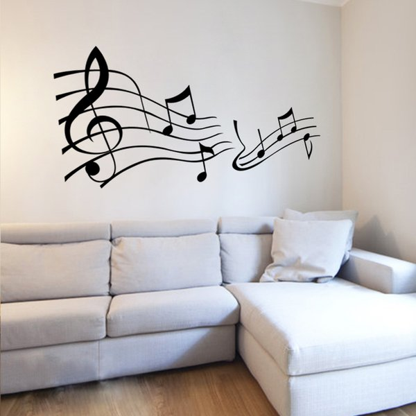 Musical Notes Vinyl Wall Decals for Living Room Bedroom Diy Wall Art Decor Vinyl Stickers