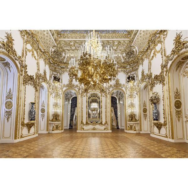 Роскошный дворец люстра фотографии фонов резьба по золоту на белой стене интерьер свадебная фотосессия фоны для студии